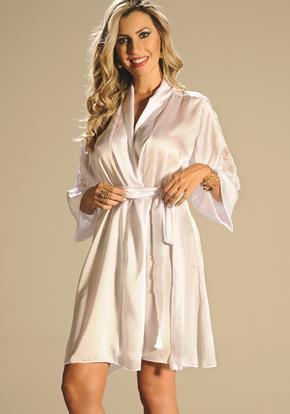 Robe-satin-renda